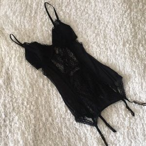 Victoria's Secret Lace Corset built in Garter Belt